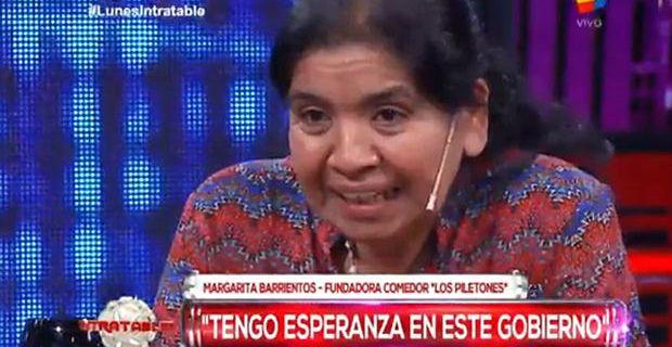 Brancatelli cruzó a Margarita Barrientos por su defensa del gobierno de Macri