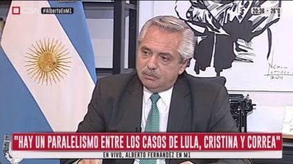 El presidente Alberto Fernández trazó un paralelismo entre los casos de Lula y de Cristina.