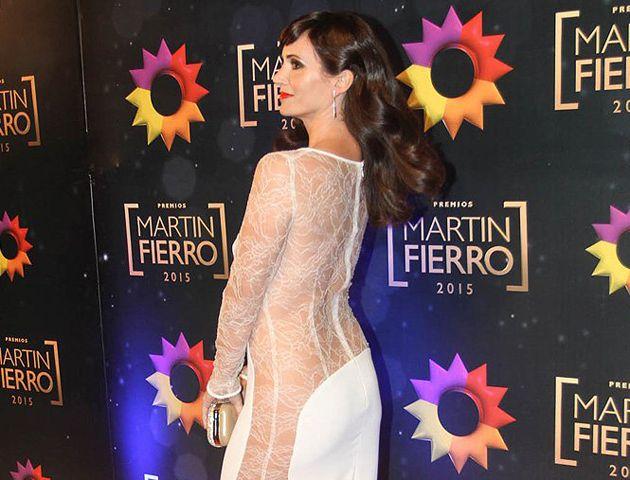 Griselda Siciliani. Todo el glamour desfiló por la alfombra roja de los Martín Fierro.