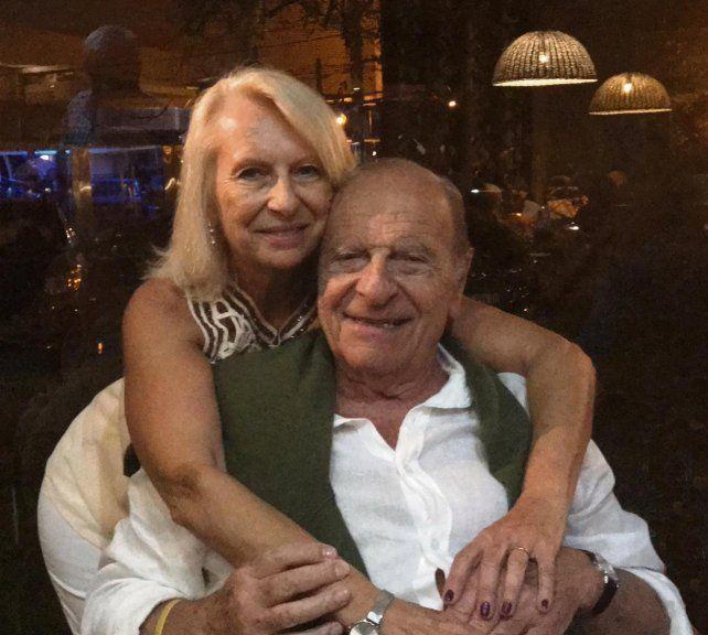 Eduardo Krasnow y su esposa