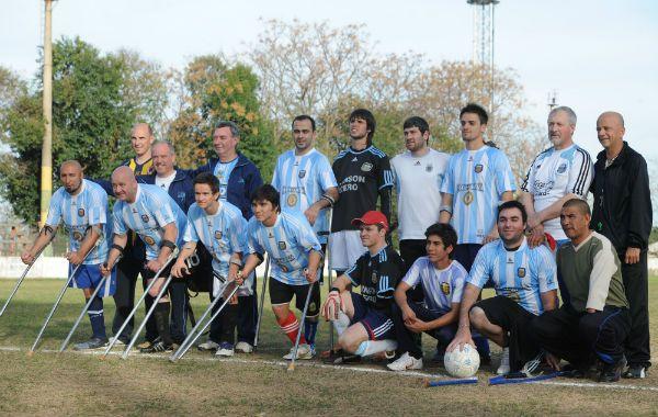 La foto tradicional del equipo argentino.