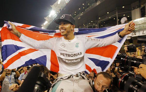El inglés Lewis Hamilton volvió a coronarse como campeón de la Fórmula 1