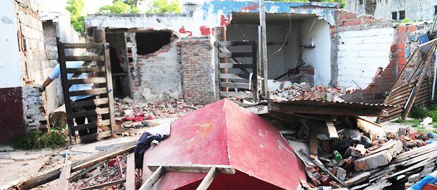 El gobierno santafesino derribó el búnker que funcionaba en Gálvez al 6300. La semana pasada había sido allanado.