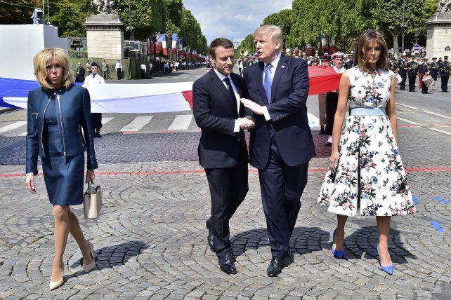 Macron recibió de Trump la seguridad de su perpetua amistad con EEUU