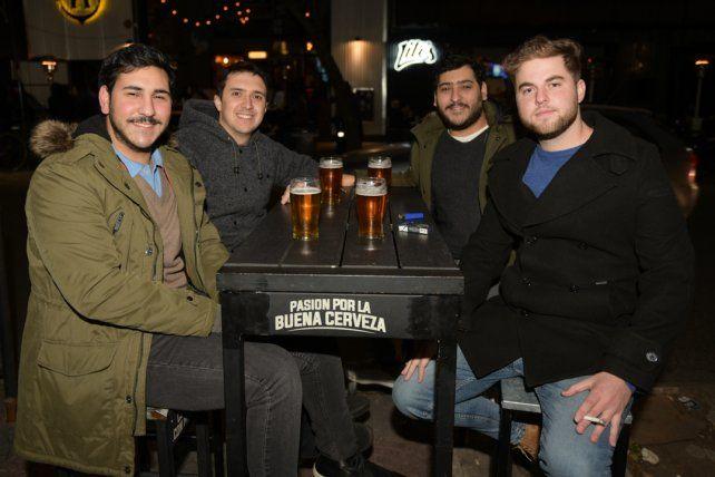 Gastón Blancato, Santiago Chela,,Franco Blancato y Carlos Mihura