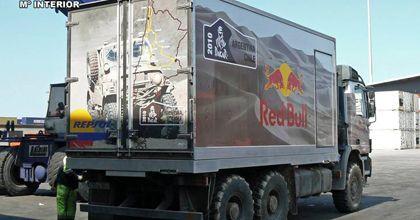 Un camión del Dakar fue usado como mula para traficar 841 kilos de cocaína