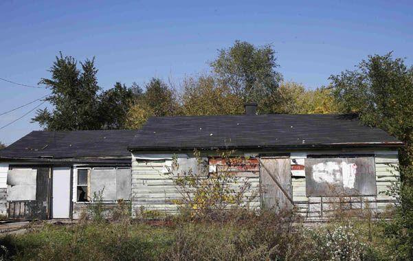 Escalofriante. La casa de la ciudad de Gary donde se halló la última víctima.