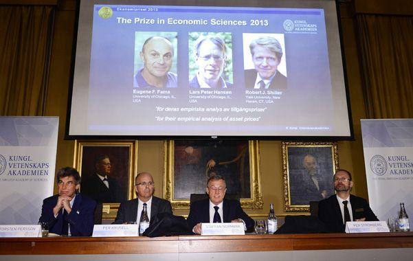 Nobel. La Real Academia de Ciencias de Suecia adjudicó el premio a tres economistas estadounidenses.