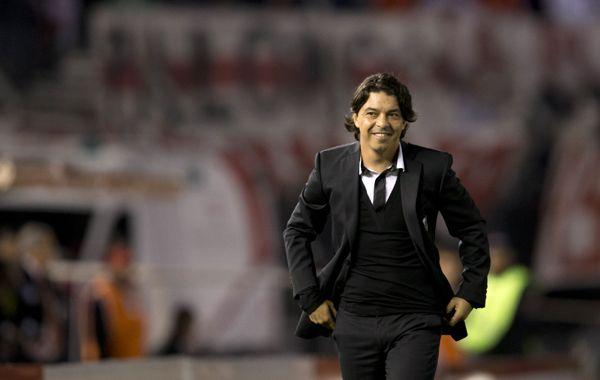 Muñeco feliz. El equipo de Marcelo Gallardo le sacó una sonrisa a su gente en el Monumental.