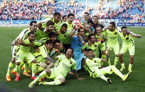 Barcelona festejó en al cancha de Atlético de Madrid.