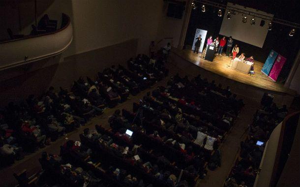 Jornada. Los jóvenes se dieron cita en el Teatro Dante de Casilda.