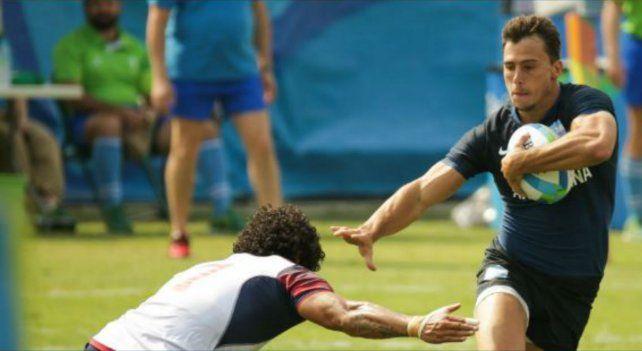Imhoff en acción. El jugador surgido en Duendes estuvo en el debut de Los Pumas 7.
