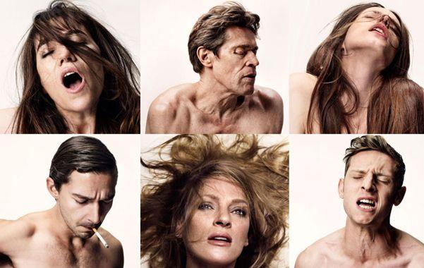 Ardientes. En los afiches de la película los actores aparecen con expresiones de estar sintiendo un orgasmo.