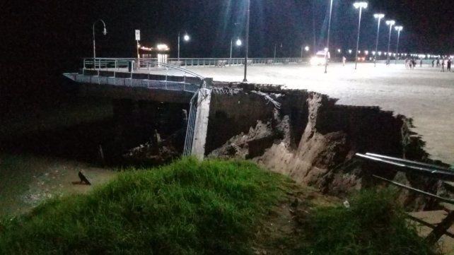 Las impactantes imágenes del derrumbe de la barranca de la zona del Parque España