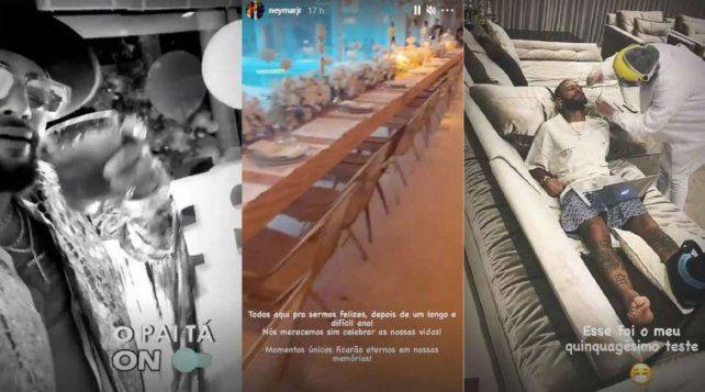 En imágenes. El astro de Brasil decidió mostrar a través de un video las medidas preventivas que se tomaron.