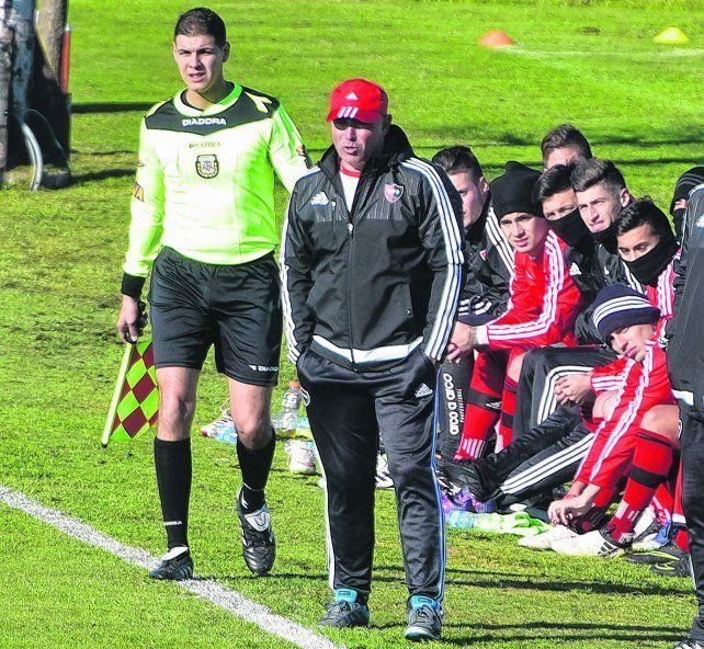 Chocho Llop. El DT rojinegro quedó conforme con el equipo tras la victoria ante Belgranoel sábado.