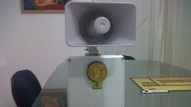 prevención. El sistema tiene luz y sirena.