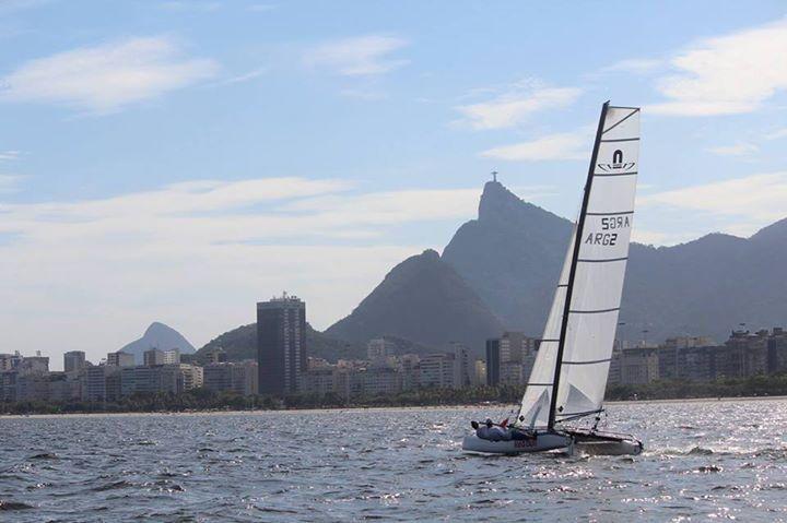 In situ. A fin de año la rosarina Cecilia Carranza Saroli navegó las aguas de los Juegos