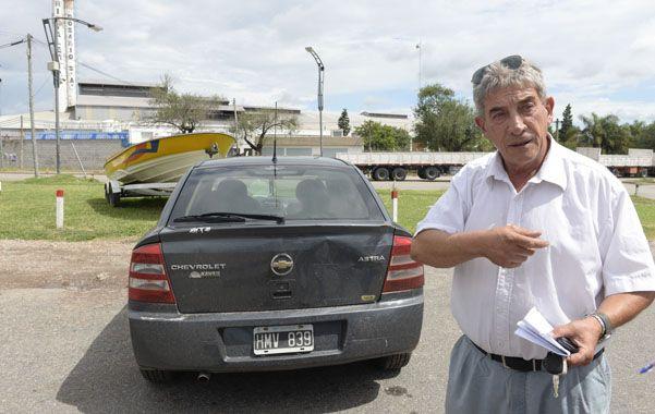 El afectado. Héctor González estaba al mando de un Chevrolet Asta color gris. Viajaba junto a su pareja. (S.Salinas)
