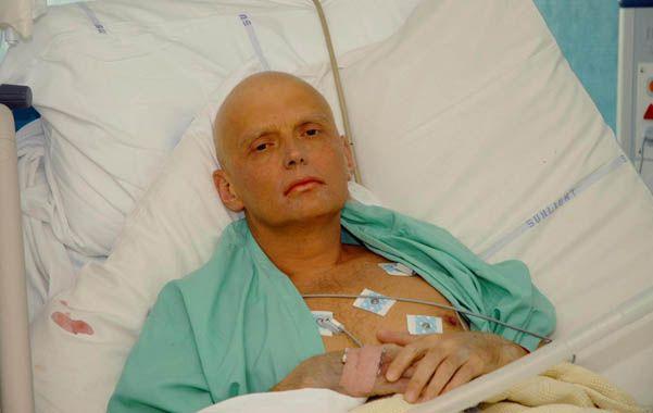 Litvinenko en su lecho de muerte