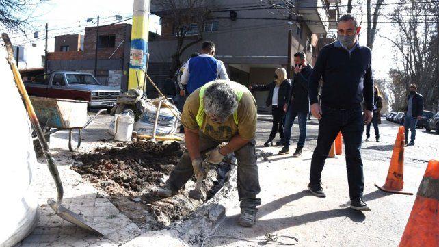 El intendente Javkin recorrió los trabajos que se están efectuando en la zona.