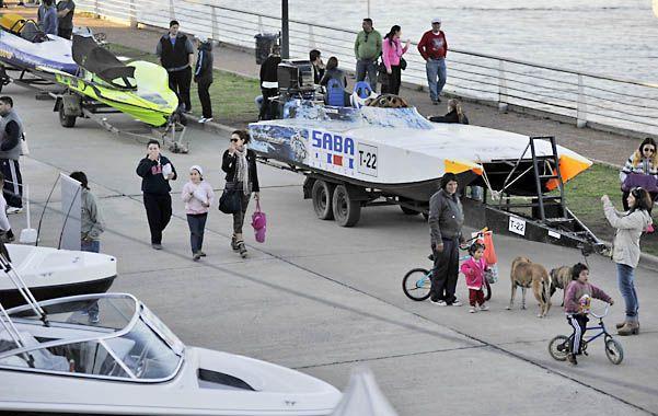 Para disfrute. Algunas embarcaciones eran exhibidas ayer.
