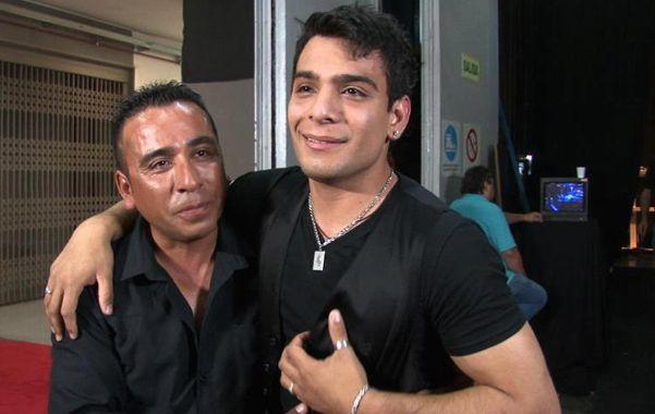 Gustavo Corvalán junto a su padre