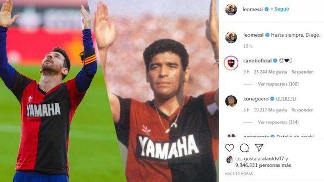 El Instagram de Messi sobre Maradona