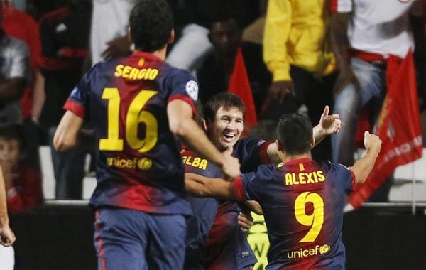 La Pulga metió el pase para que el chileno Alexis Sánchez abriera el marcador a los 5 minutos