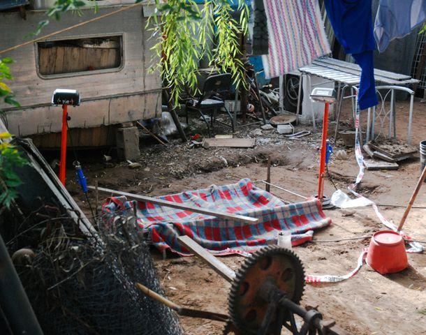 El lugar donde fue hallado el cuerpo de Chiara Páez