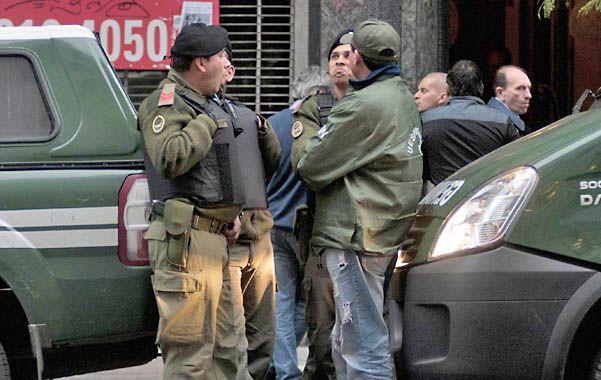 Operativo. El microcentro porteño estuvo invadido por vehículos de Gendarmería Nacional.