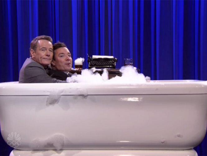 El protagonista de Breaking Bad se dio un baño de pureza en un programa de TV
