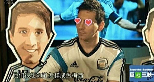 Messi lloró, lanzó rayos por los ojos y vio bailar corazones en una entrevista