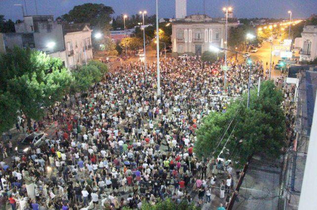 El crimen de Gonzalo motivó marchas multitudinarias en Rafaela.