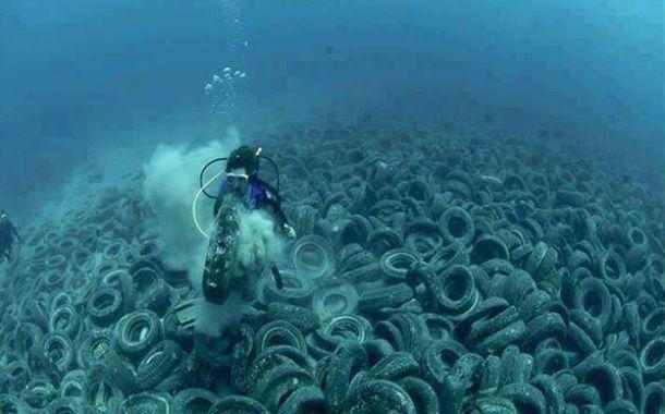 Decepción. EEUU sumergió más de 700 mil neumáticos.