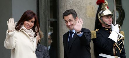 Para Cristina su encuentro con Sarkozy fue magnífico