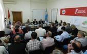 Pedido. La reunión de la Comisión de Emergencia Agropecuaria solicitó a Bonfatti la declaración de emergencia y desastre.