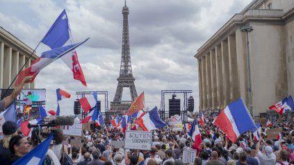 Una de las tres marchas que se organizaron en París. Hubo otras en 137 ciudades de Francia.