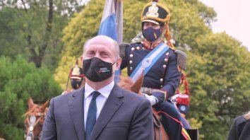El gobernador Perotti estuvo acompañado por el intendente de San Lorenzo, Leonardo Raimundo y la vicegobernadora, Alejandra Rodenas y el Ministro de Defensa, Agustín Rossi.
