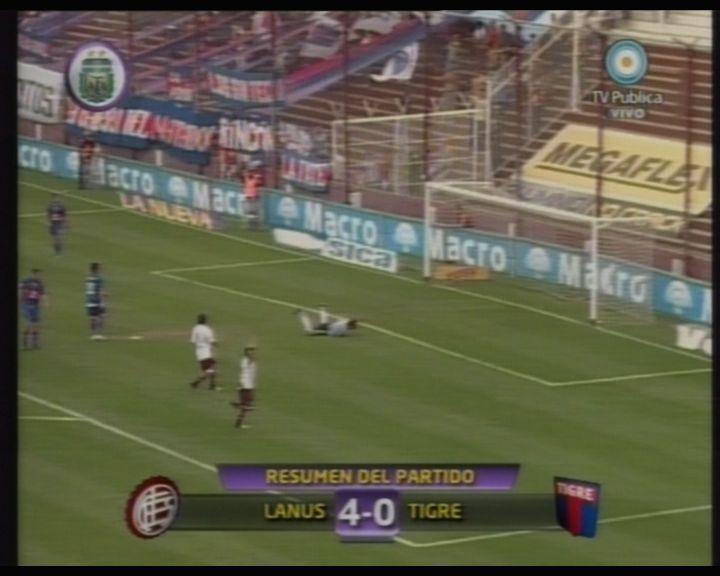 Lanús le metió cuatro a Tigre que sigue hundido en el fondo de la tabla