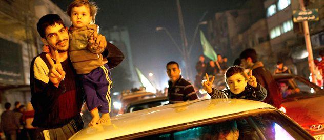 En Gaza salieron a celebrar el acuerdo