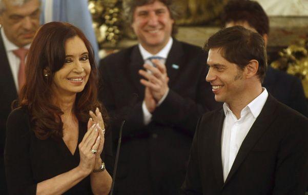 Sonrisas. La presidenta y el flamante ministro de Economía