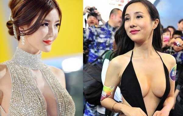 China censura a las promotoras livianas de ropa en las ferias de automóviles