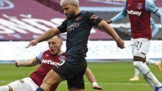 Sergio Agüero apenas jugó 45 en el empate de Manchester City contra West Ham.