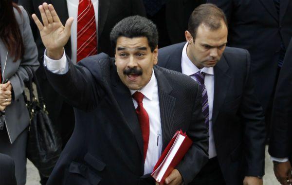 El vicepresidente Nicolás Maduro