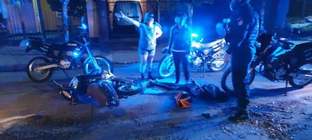 Persecución policial. La resistencia a la autoridad fue en tres controles.