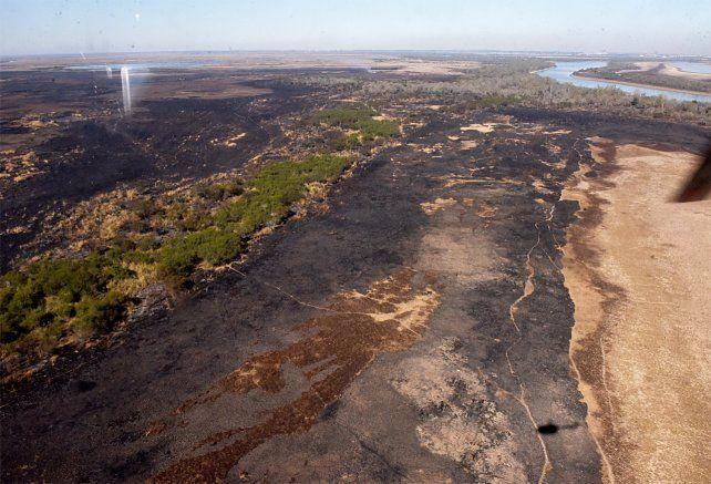 Denuncian que en la zona de islas frente a Rosario hay usurpaciones de terrenos