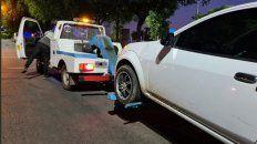 El vehículo del joven que se negó a realizarse el test de alcoholemia fue derivado al corralón municipal.