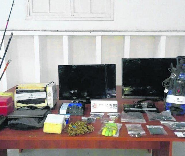 botín. En la casa donde cayó Tuqui se halló lo robado en Tiro Suizo.