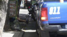 conmocion por la detencion de un ladron de motos en 3 de febrero y orono